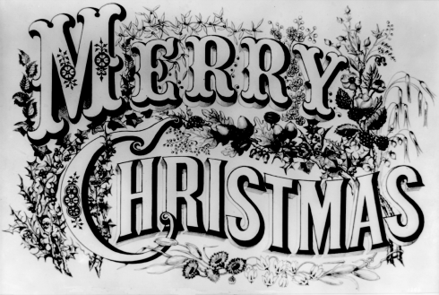 Merry-Christmas-black-and-white-image