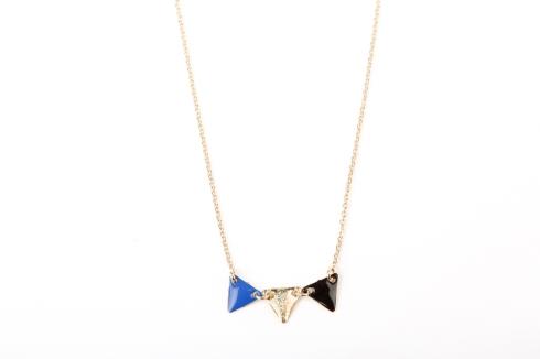 Collier fanion bleu