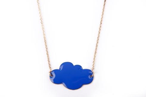 Collier nuage bleu